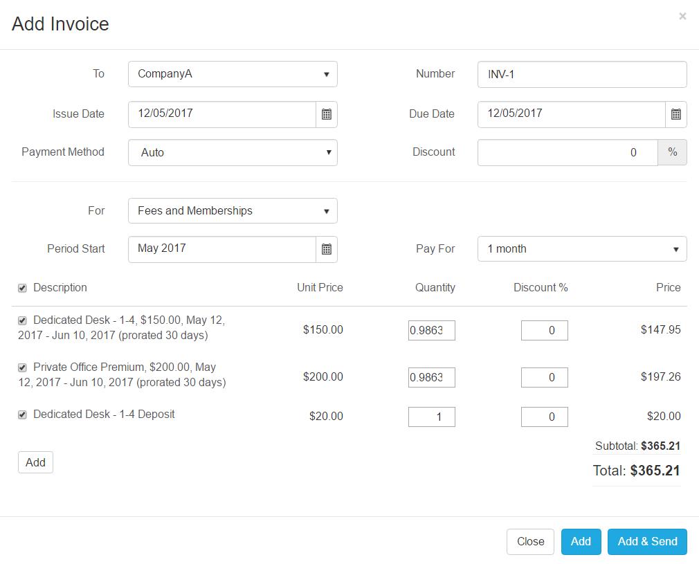 Invoice Configuration