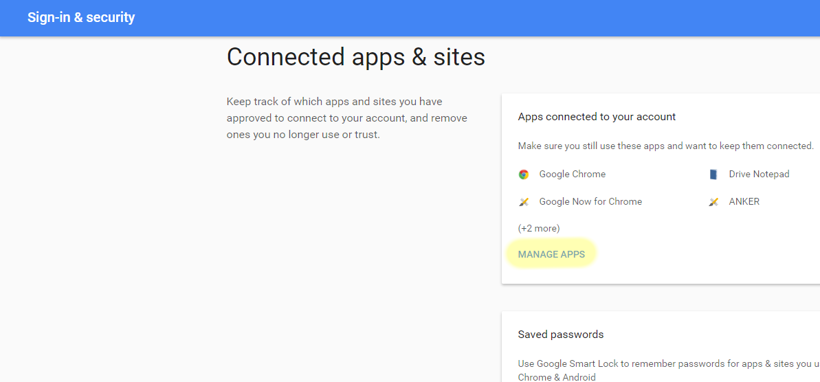Remove Authorized App from Google Account - TechNosis EndUser Docs