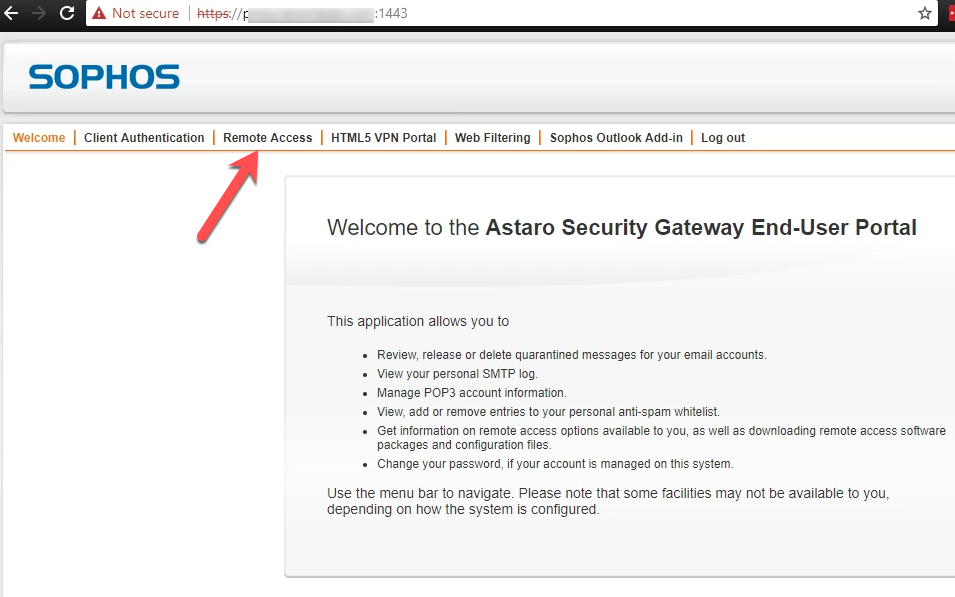 Sophos SSL VPN Client Installation and Use - TechNosis
