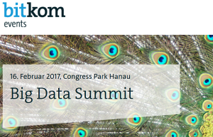 Bitkom Big Data Summit // 16.02.2017, Hanau