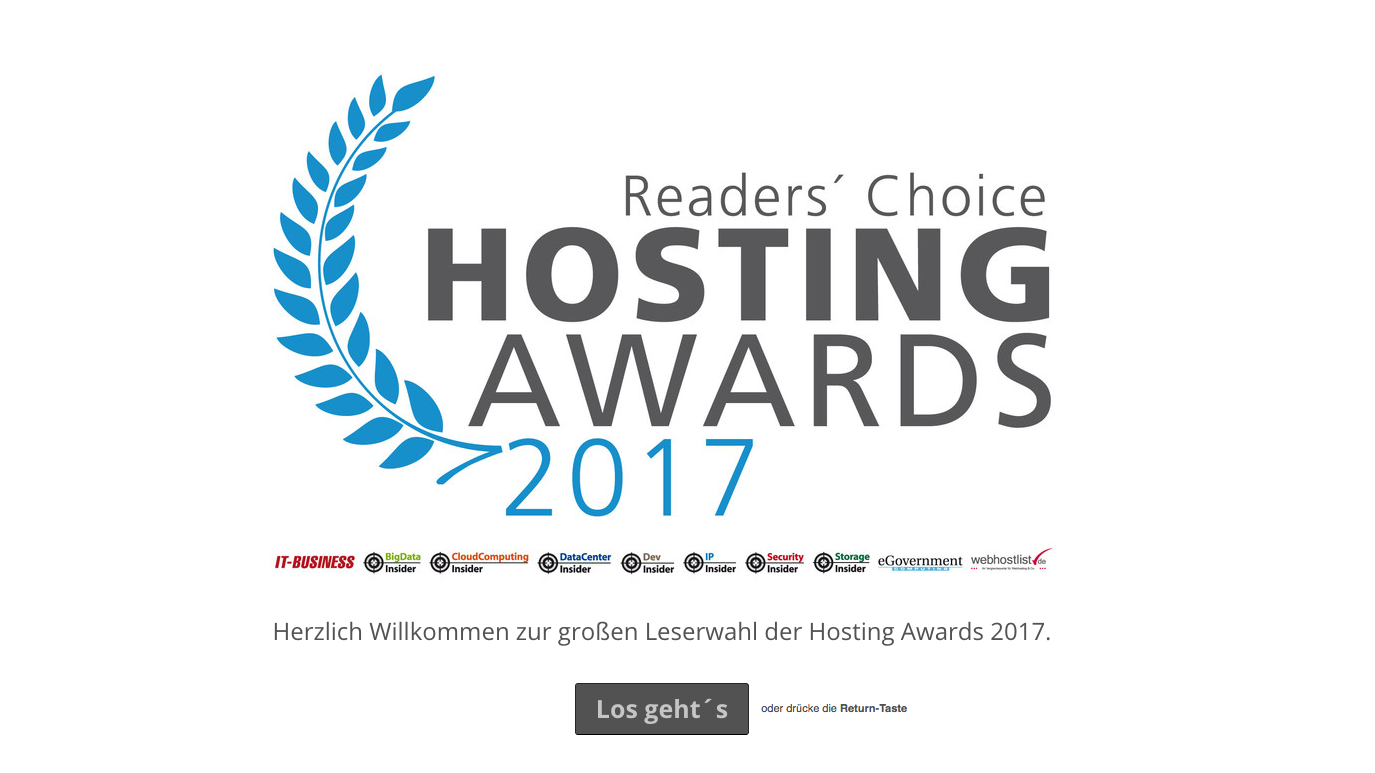 Hosting Awards 2017 (c) Vogel IT-Medien