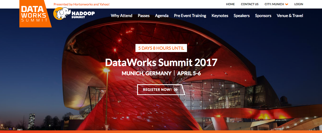 DataWorks Summit // April 5-6, Munich
