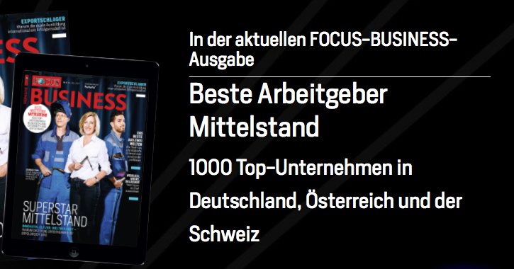 The unbelievable Machine Company ist Top-Arbeitgeber Mittelstand 2018 (Screenshot: Focus Business)