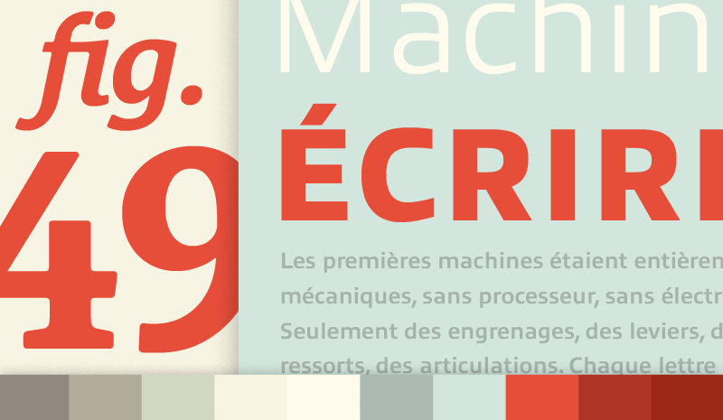 typofonderie specimen design by Paravel