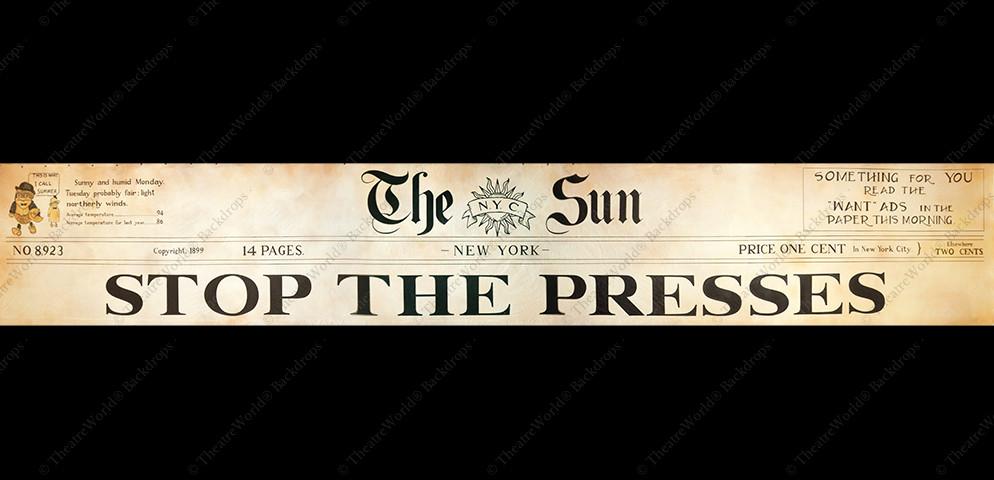 Newsprint Header