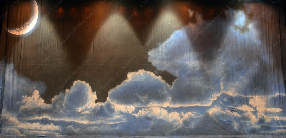 Cloudy Crescent Moon