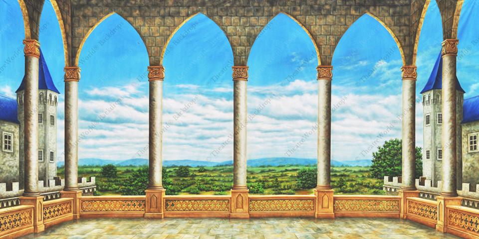 Medieval Castle Balcony
