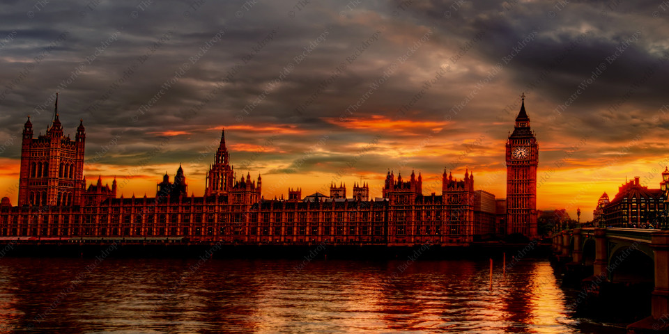 Vintage London Skyline