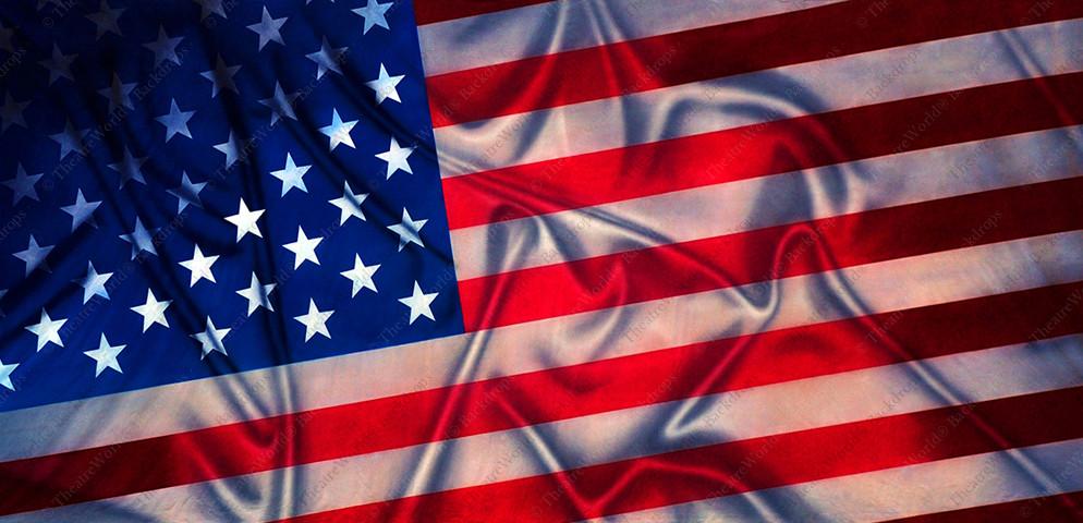 Rippled American Flag