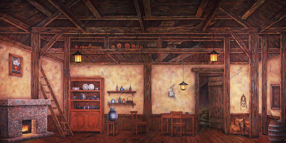 Old World Cottage Interior