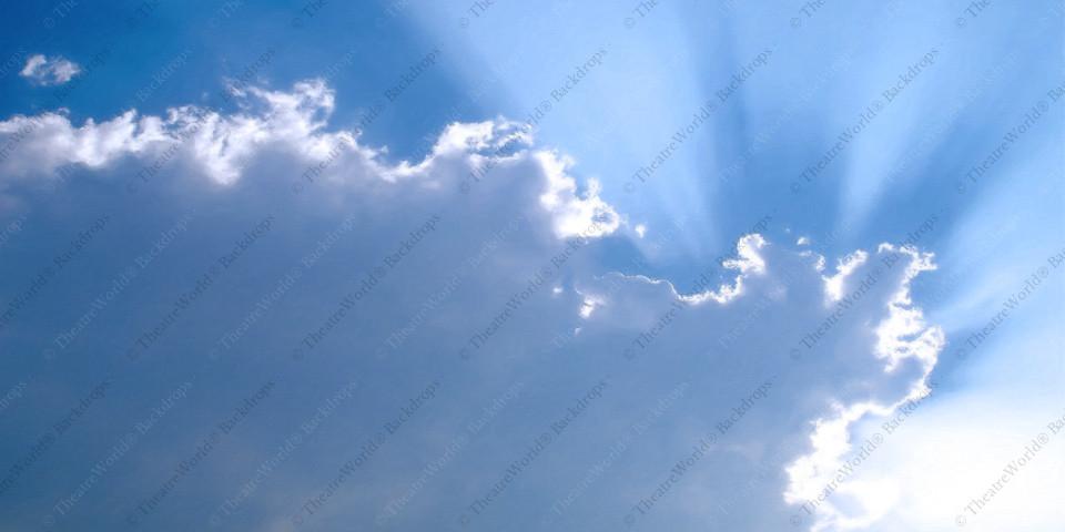 Blue Sky Sunburst