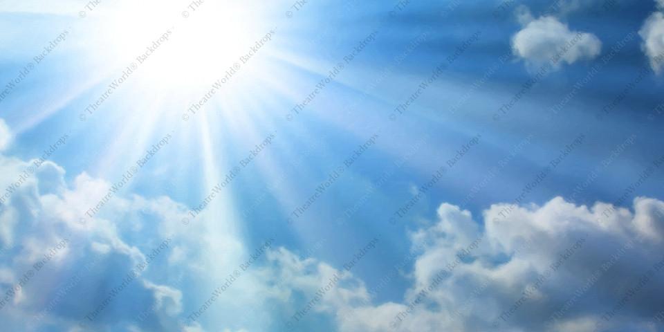 Sunkissed Blue Sky