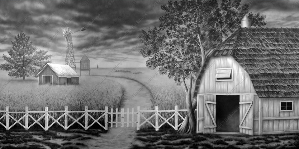 Black and White Prairie Farm