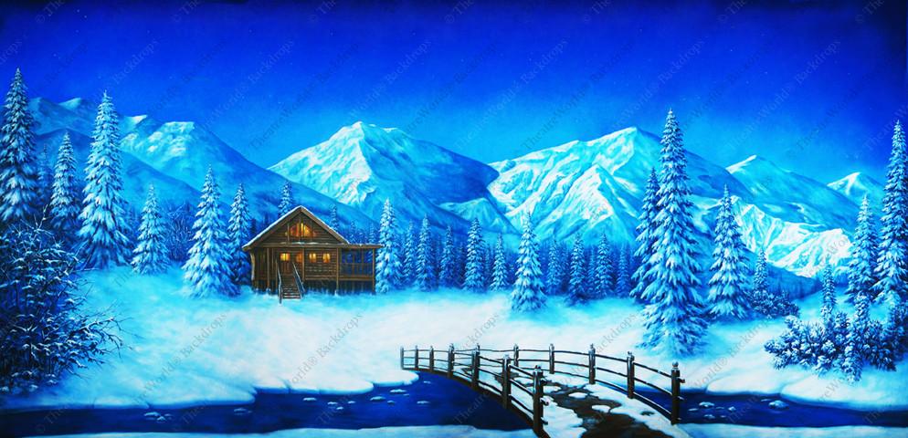 Winter Mountain Log Cabin