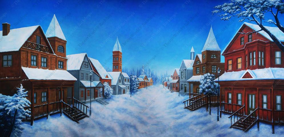 Daytime Winter Village