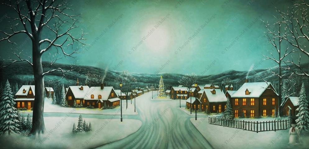 Peaceful Christmas Village - B