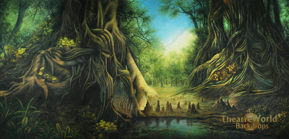 Shrek S Swamp Backdrop Rentals Theatreworld Backdrops