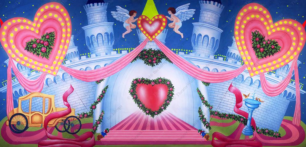 Stylized Vegas Wedding Chapel Castle