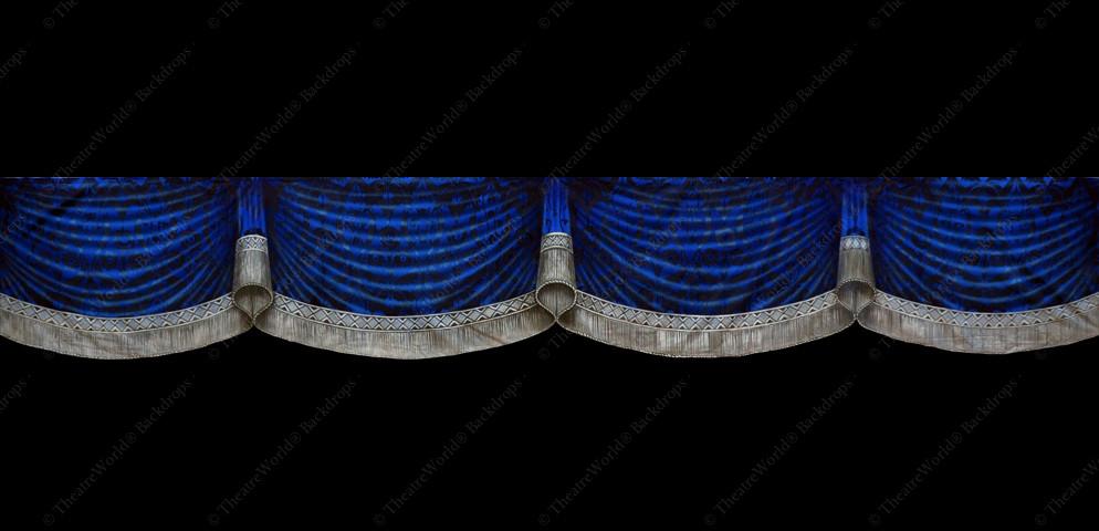 Victorian Royal Blue Curtain Header