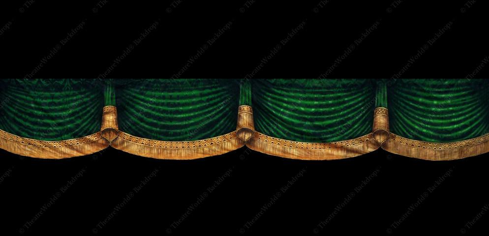 Victorian Hunter Green Curtain Header