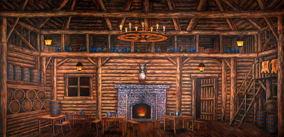 Old World Tavern Interior - B