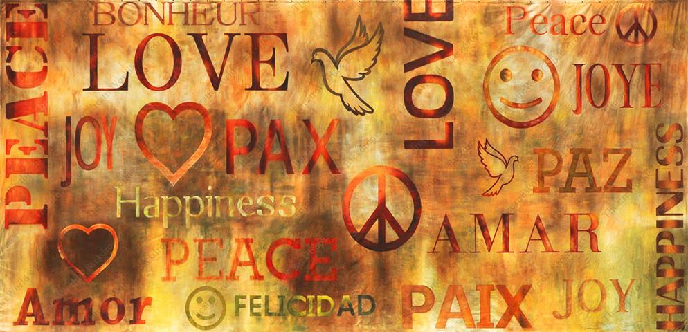 Love And Peace Graffiti