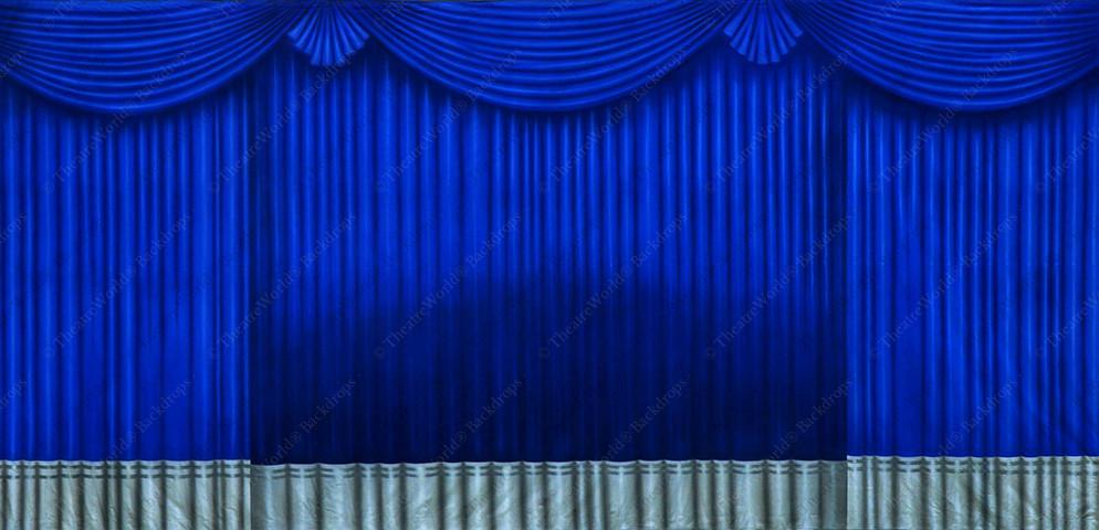 Royal Blue and Silver Drapes