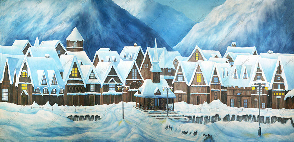 Frozen European Village