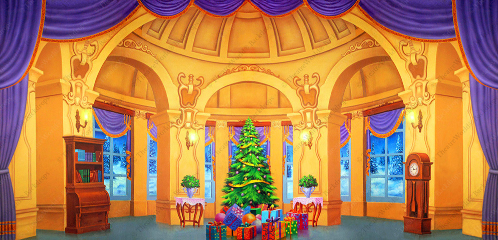 Victorian Christmas Mansion Parlor