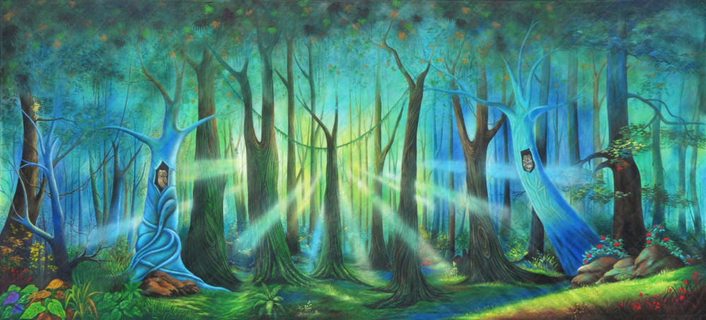Whimsical Forest Daybreak