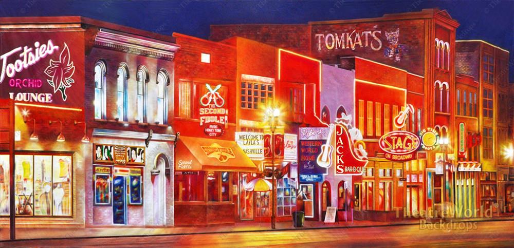 Nashville Music Row Backdrop Rentals Theatreworld