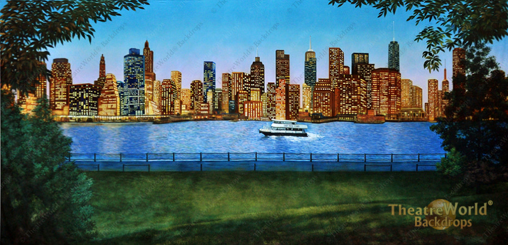 NYC Daytime Photography Backdrop New York City Streets Backdrop Worldwide Landmark Building Skyscraper Skyline Background Photo Booth Studio Backdrop 10x7ft Vinyl E00T10467