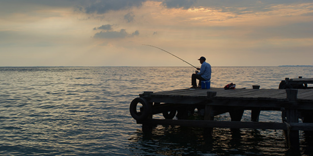 Get a little rugged with a spot of fishing,