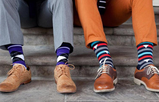Slip on Cole and Parker socks to support charity