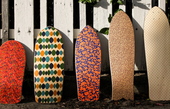Roll out on a custom deck from Cottage Skateboards in Palm Beach