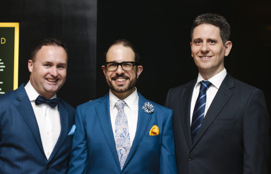 Paul Lack, Nicholas Inglis & Cameron Clark
