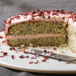 Whip up a decadent rose and poppy seed cake