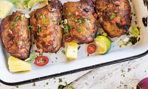 Lick your lips for some tasty Mai Thai chicken thighs