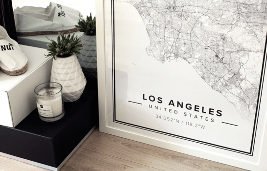 Order a chic keepsake of your favourite cities from Mapiful
