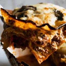 Serve up a comforting slice of pork and fennel lasagne