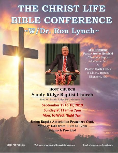 Upcoming Events in our Churches | Union Baptist Association