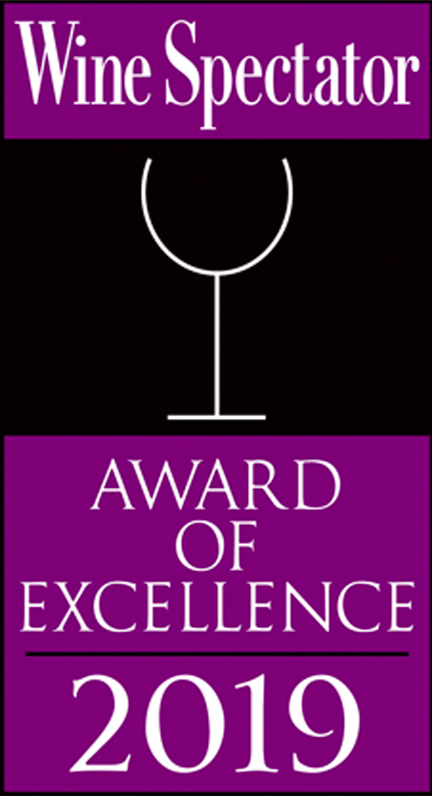 Twenty Eight Wine Spectator Award 2019