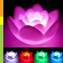 Color Changing LED Lotus Flower Romantic Love Mood Lamp Night Light