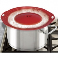 Boil Over Safeguard - Silicone Lid Stops Pots and Pans from Messy Spillovers: Home & Kitchen