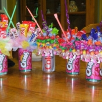 Candy and Soda Bouquets.