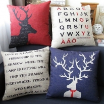 Mr deer cotton pillow
