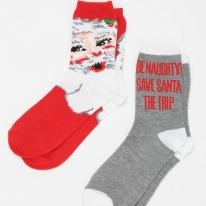 Santa Crew Sock - Pack Of 2
