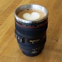 Stainless Steel Lipped Camera Lens Mug