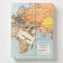 Vintage Map Notebook Set