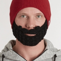 Attached Beard Beanie